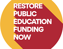 Arizona Education Funding Campaign Buttons
