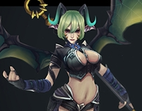 3D character game art - Succubus