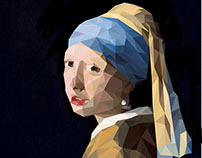 Girl with a Pearl Earring Low Poly