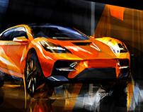McLaren SSUV Sketchfighter contest sketches