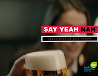 SAY YEAH NAH TVC TREATMENT