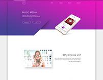 Music Media, Mobile app website