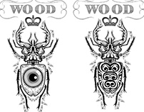 T-shirt design for WooD clothing