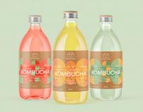 Greenhouse Juice Kombucha Label Design