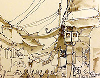 Sketches at Fishing Village01-June2015
