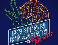 "affiche concert""FOREIGN DIPLOMATS AND FRIENDS"""