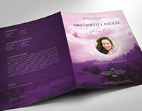 urple Sky Funeral Program Large Word Publisher Template