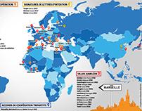 Les villes jumelées avec Marseille