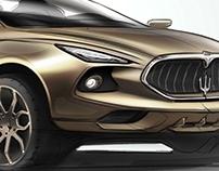 Sketch Maserati Levante  2017 SUV