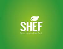 Eco food logo concept