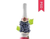 Wine Bottle - Mockup
