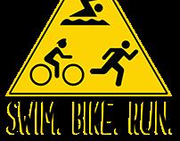 """""""Swim. Bike. Run."""" Logo"""