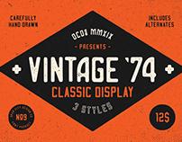 Vintage 74 font