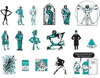 Lelo e Zezinha - Illustration Print