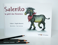 "Illustrations for ""Salerito, le petit âne Flamenco"""