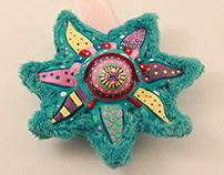 Psychedelic Starfish Handmade Interior Decoration