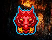 Dragon mascot design for stock