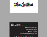 Nuevas tarjetas de visita ZANA CREATIONS