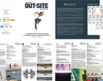 brochure for OUT-SITE 13th Summer Dance Festival