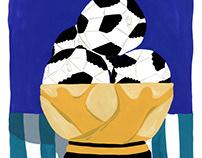 WorldCup Soccer Illustration - Papier Magazine issue 6