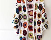 Crochet Granny Square Cocoon Shrug