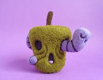 Rotten Apple and Worm, Hallowen Art Toy