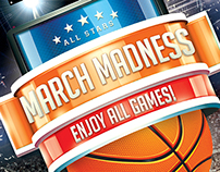 NCAA March Madness 2015 Flyer Poster Print Template