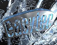 """Easytec big splash"" 3D rendering."