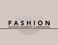 Process Book for Fashion Advertisement Campaign