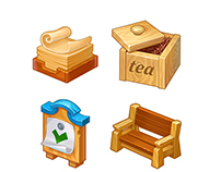Icons for games Wild West