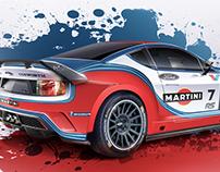 WRC Mk2 Ford Escort: Martini Livery