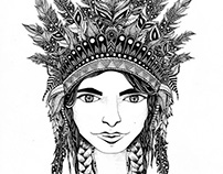 WARRIOR PRINCESS / hand drawing