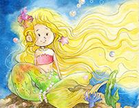 Kinderbuchillustration die Fixe Nixe