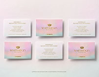6 Business Cards in two lines Mockup