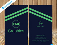 Dark Business Card Free PSD