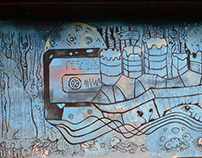 "Mural ""Radio Gaga """