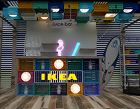 IKEA summer campaign booth