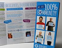 100% Community branded brochure