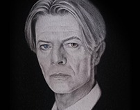 David Bowie - pencil portrait drawing No.I.
