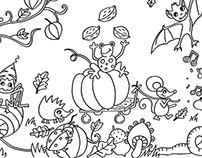 Festive colouring pictures