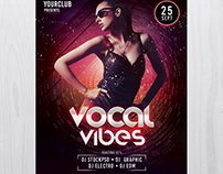 Vocal Vibes - Free PSD Flyer Template