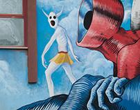 Gods in Love- 1996-2016 Roald Dahl - Wall in Trani