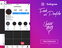 FREE Instagram Layout Feed and Profile UI – 2018