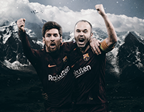 Messi Iniesta 2017/18 Wallpaper