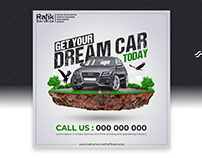 Dream Car Banner and Poster Design for Social Media
