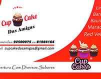 Cartão de visita Cupcake das Amigas.