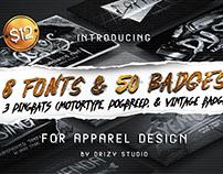 8 Fonts & 50 Badges • 90% OFF