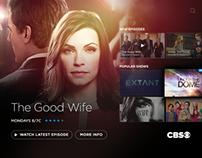CBS TV UI/UX
