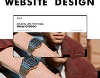 G-Shock Watch Website Concept