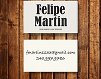Name Card design for Felipe Martin